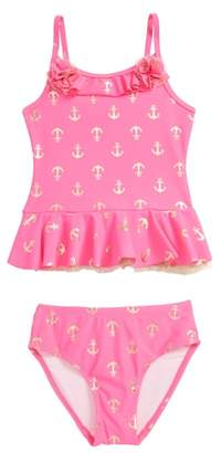 Flapdoodles Anchor Two-Piece Swimsuit