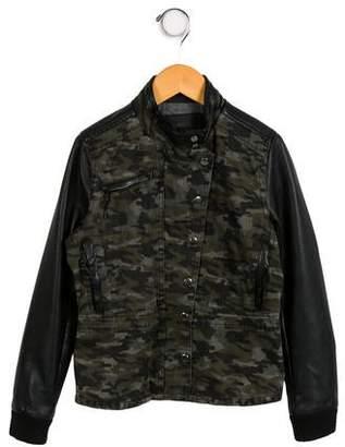 Blank NYC Girls' Camouflage Print Jacket