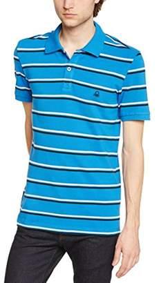 Benetton Men's Striped Short Sleeve Polo Shirt