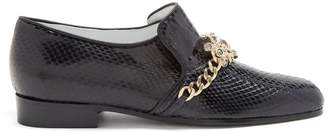 KOCHÉ Jewel and crystal embellished leather loafers
