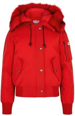 Kenzo Red Faux Fur