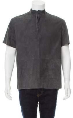 Deveaux Suede Short Sleeve Shirt w/ Tags