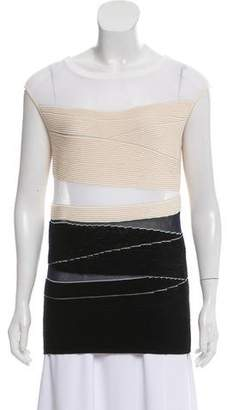 Narciso Rodriguez Textured Sleeveless Top