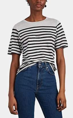 Acne Studios Women's Megalin Striped Linen T-Shirt