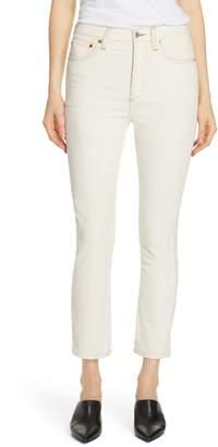 RE/DONE High Waist Crop Skinny Corduroy Jeans