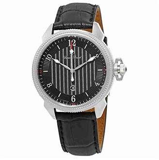 Lucien Piccard Men's LP-40053-01 Trevi Stainless Steel Watch with Leather Band