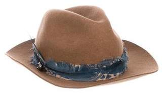 Zadig & Voltaire Feather-Trimmed Felt Hat