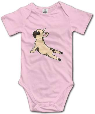 Ozuele French Bulldog Yoga1 Baby's Climbing Clothes Baby Bodysuit
