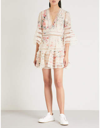 Zimmermann Laelia Diamond Flutter cotton mini dress