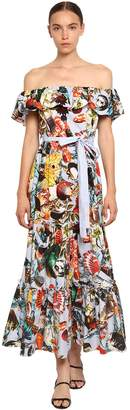 Mary Katrantzou Shell Print Cotton Poplin Dress