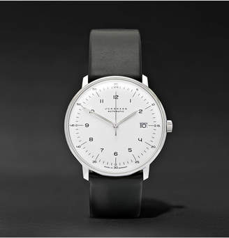 Junghans Max Bill Automatic 40mm Stainless Steel And Leather Watch