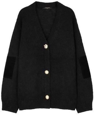 Mother of Pearl Black Velvet-trimmed Wool