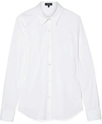 Theory Tenia Stretch Cotton-blend Poplin Shirt - White
