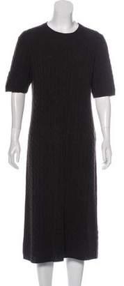 Max Mara Cable Knit Wool Dress