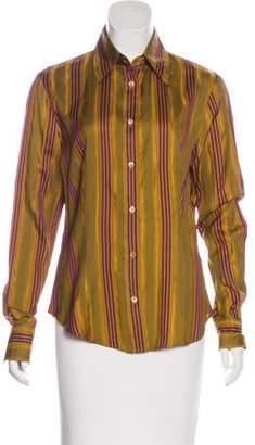 Etro Silk Striped Top