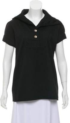 Marc by Marc Jacobs Short Sleeve Wool Top