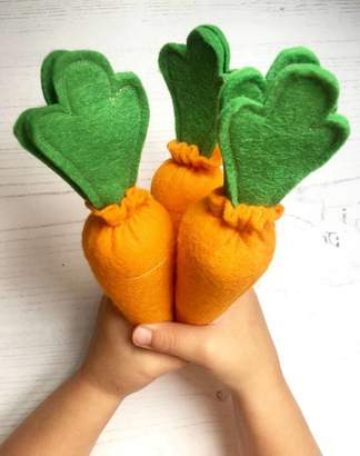 mummy made it me Set Of Three Pretend Play Felt Food Carrots