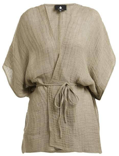 SU Kaani linen-blend cover up