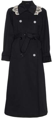 Simone Rocha Trench coat with contrast lace