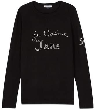 Bella Freud Je T'aime Jane Black Wool Jumper