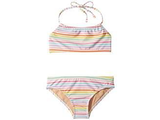 Toobydoo Rainbow Bandeau Halter Bikini (Infant/Toddler/Little Kids/Big Kids)