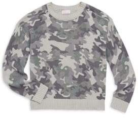 Design History Girl's Camo Sweater