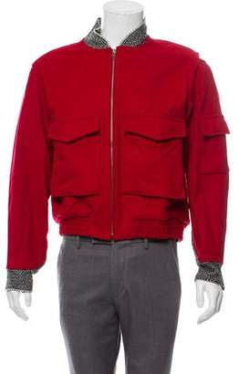 Opening Ceremony Contrast Trim Wool Bomber Jacket
