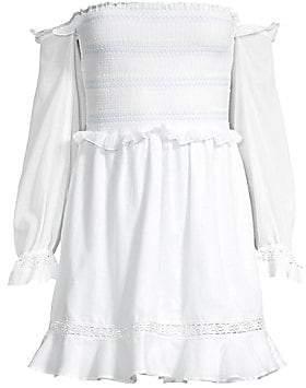 Kisuii Women's Arcadia Off-The-Shoulder Smocked Cover-Up Dress