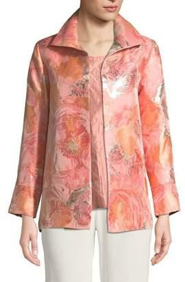 Caroline Rose Sitting Pretty Floral Jacquard Jacket, Plus Size