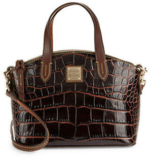 Dooney & Bourke Ruby Croco-Embossed Leather Mini Satchel $178 thestylecure.com