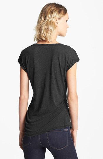 James Perse Asymmetrical Tuck Tee