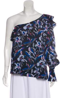 Tanya Taylor One-Shoulder Silk Top w/ Tags