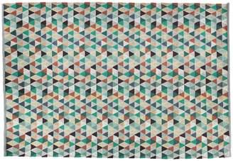 Kaleido Large multi-coloured flat weave wool rug 170x240
