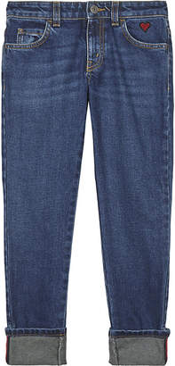 Gucci Heart pocket cotton denim jeans 4-12 years