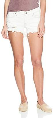 Lucky Brand Women's MID Rise Cut Off Short in White Reyes