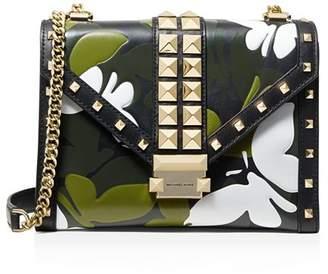 ff8d0fa69193e MICHAEL Michael Kors Whitney Large Studded Leather Shoulder Bag