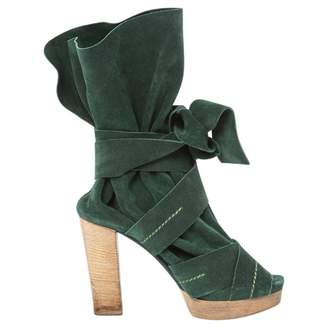 Chloé Green Suede Ankle boots
