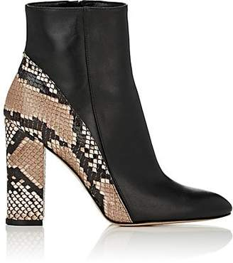 Barneys New York WOMEN'S LEATHER & SNAKESKIN ANKLE BOOTS