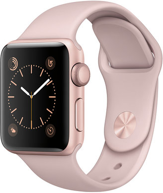 Apple Watch Series 2 38mm Rose Gold-Tone Aluminum Case with Pink Sand Sport Band $369 thestylecure.com