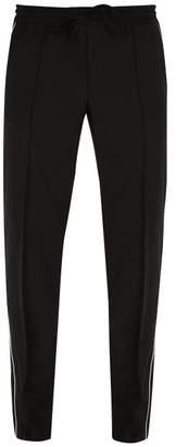 Valentino Side Stripe Wool Blend Track Pants - Mens - Black