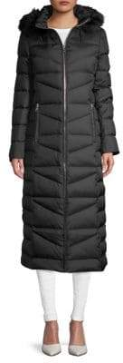 Calvin Klein Quilted Faux Fur-Trimmed Down Coat