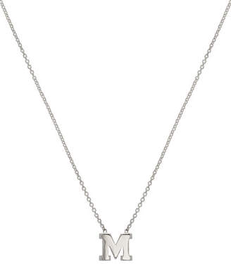 Zoe Lev Jewelry Regin Personalized Initial Pendant Necklace in 14K White Gold