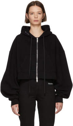 Unravel Black Terry Brushed Zip-Up Hoodie