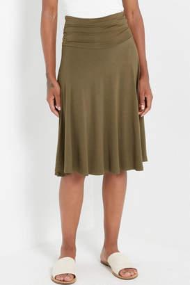 Soprano Olive Foldover Skirt