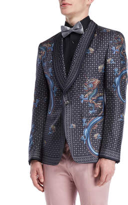 Dolce & Gabbana Dragon Print Silk Jacket