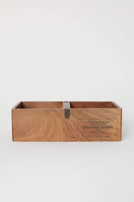 H&M Wooden Storage Box - Beige