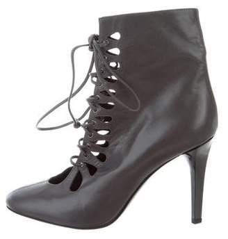 L'Wren Scott Leather Lace-Up Boots