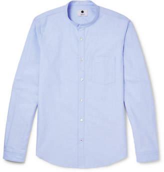 NN07 Eske Grandad-Collar Cotton Oxford Shirt