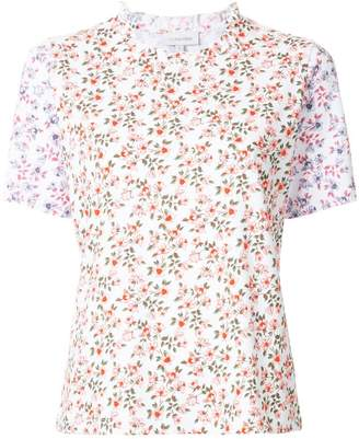 CK Calvin Klein frill collar floral T-shirt