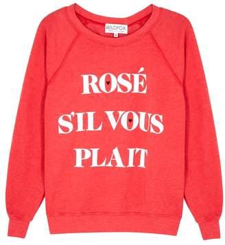 Wildfox Couture Rosé Sil Vous Plait Jersey Sweatshirt